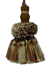 "Conso Marquise Collection 22035 P76 CARAMEL BROWN Mix Decorative 4"" Key Tassel"