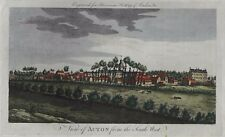 VIEW OF ACTON - Antique Print-Hand-Colored Engraving -1776- Harrison's History