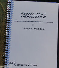 Owners Manual, Faster Than Light Speed C New for 800/XL/XE Atari