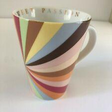 The Cheesecake Factory Mug SWEET PASSION 2005 Coffee Cup RAINBOW SWIRLS HTF