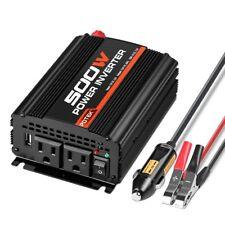 Potek 500W Power Inverter/Car Converter Dc 12V to 110V Dual Ac Charging Port&Usb