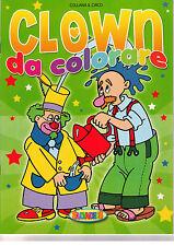 Il circo. Clown da colorare: ABCD