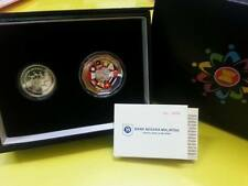 Malaysia Asean proof  set of 2 with cert and box Radar series no.454 2015