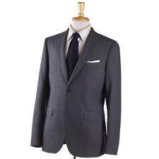 NWT $1700 BOGLIOLI 'Sforza' Solid Medium Gray Woven Wool Suit 36 R (Eu 46)