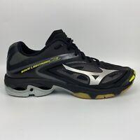 Mizuno Womens Wave Lightning Z3 Black Silver Yellow Volleyball Shoes Sz 10.5