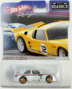 HOT WHEELS RACING 2012 ROAD RACERS ROADRCR REAL RIDERS 1992 BMW M3 #3 WHITE