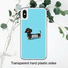 Funny Sausage Dog Joke Hilarious Text Case Cover iPhone Samsung Huawei Google