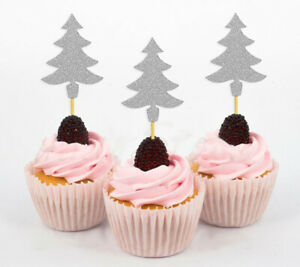 Darling Souvenir  Christmas Tree Cupcake Toppers  Dessert Decorations-VlY