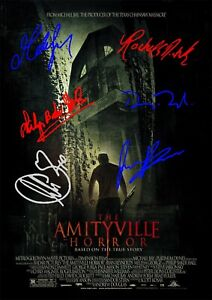 The Amityville Horror Movie Film Poster With Autographs Signed Print