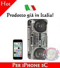 OFFERTA Cover Bumper Case Slim Custodia in plastica per iPhone 5C modello Radio