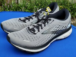 Brooks Men's Ghost 13 Running Shoes Athletic Sneakers Grey 1103481D040 Sz 13 D
