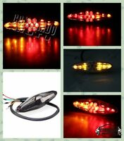 Retro Universal Integrated LED Tail Light Rear Taillights Turn Signal Brake Lamp