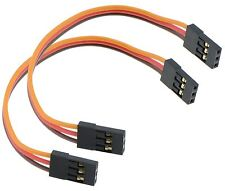 2 X 100 Mm Macho A Macho Servo Extension Lead Cable Futaba Jr Conectores