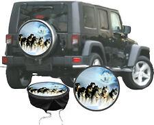 Hundgespann Husky Ghost Polar Action Auto Jeep Caravan Truck Radabdeckung Bezug