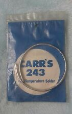 Carr's 243 high temperature solder