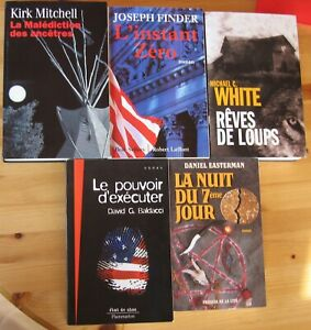 lot de 5 polars - thrillers américains Kirk Mitchell...