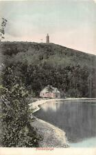 HIMMELBJERGET DENMARK LIGHTHOUSE LAKE VIEW POSTCARD (c. 1910)