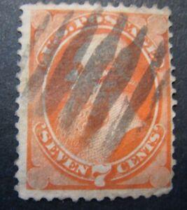 1871 US S#149 7c Stanton, vermilion Used VG