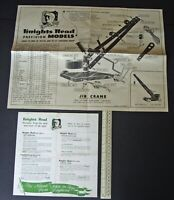 1940s Knights Head Models (Meccano type) Catalogue & Assembly Plan for Jib Crane