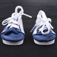 Handmade Doll Blue Canvas Shoes for 18 inch Doll Baby  Shoes.-