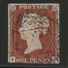 Gb Qv 1841 1d Red Brown Ae Sg8 Fu Nr 4 Margins S5
