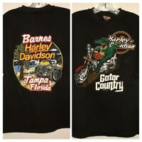 ++ Vintage 1988 Gator Country Harley Davidson Tampa Florida Graphic T-Shirt ++