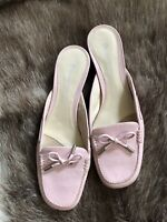 etienne aigner Pink Leather Mules shoes size 9.5