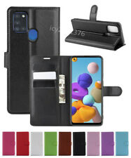 Leather slot wallet stand flip Cover Skin Case For Samsung Galaxy A21s SM-A217F