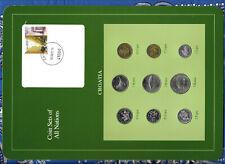 Coin Sets of All Nations Croatia 1993 & 1995 UNC 2, 5 Kuna 1993 1 Kuna 1995