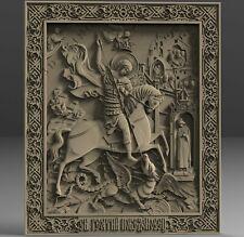 3D STL Model # George The Victorious 3 # for CNC Aspire Artcam Carving Engraver