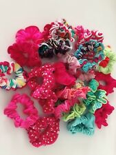 3x Women Ladies Girl Swim Hair Scrunchies Floral Ponytail Tie Elastic Band