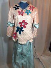 Beautiful Women's Size Small, Mardi Gras Rider's Costume Top and Pants, Handmade