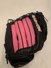 "Easton FP 1250K 12.5"" Fastpitch Softball Mitt Glove Pink Black Leather RHT"