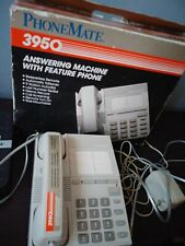 Vintage Phonemate 3950 Corded Desk Phone with Answering Machine
