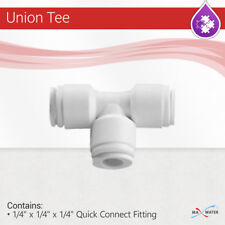 """Union Tee 1/4"""" Fitting Connection Reverse Osmosis Water Filter T connector quick"""