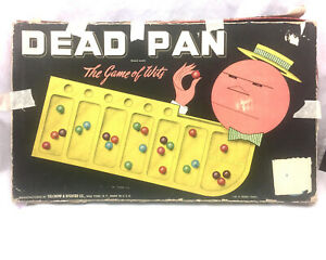 Dead Pan The Game of Wits - Near Complete 60/63 Marbles Vintage Board Game