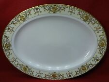 "NORITAKE china 175 CHRISTMAS BALL Large Oval Serving Platter 16-1/8"""