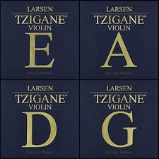 Larsen Tzigane Violin String Set (E-Ball A D & G) Medium Tension 4/4 Full Size