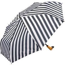 Susino Duck Black & White Folding Umbrella - Stripes