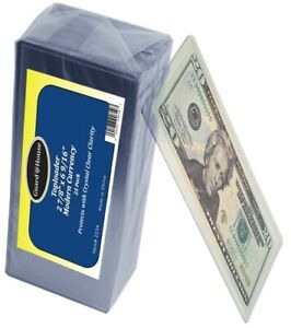 GUARDHOUSE RIGID CURRENCY SLEEVES MODERN SIZE US NOTES (25)