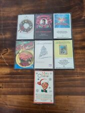 Lot Of Christmas Cassette Tapes