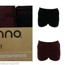 Pack2 Boxers hombre Unno Smart Algodón sin costuras calzoncillo negro rojo m