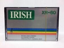 IRISH XR 60 RARE BLANK AUDIO CASSETTE TAPE NEW HONGKONG MADE