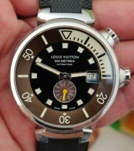 Fine S.Steel Louis Vuitton Tambour Automatic Diver Watch 44MM Q1031