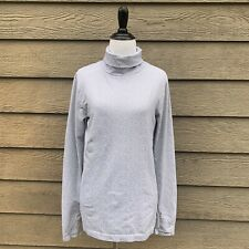 Athleta Grey White Flurry Peak Turtleneck size Large
