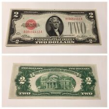 VINTAGE TWO DOLLAR 1928-PLAIN BILL UNITED STATES LEGAL TENDER NOTE RED SEAL VNC
