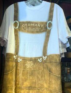 Disney Parks Epcot Lederhosen T-SHIRT Germany Oktoberfest Mens