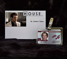 """TV SERIES HOUSE MD EXACT REPLICA COLLECTOR PROP """"DR ROBERT CHASE"""" HOSPITAL ID"""