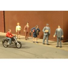More details for o gauge city people with motorcycle bachmann 33151