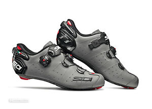 Sidi WIRE 2 CARBON Road Cycling Shoes : MATTE GREY/BLACK - NEW in BOX!